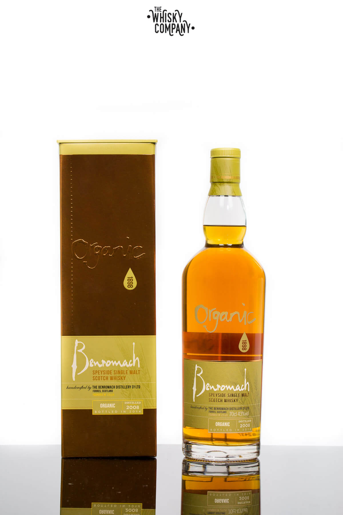Benromach Organic Speyside Single Malt Scotch Whisky (700ml)