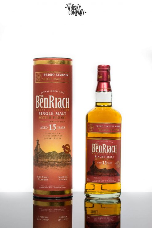 BenRiach Aged 15 Years Pedro Ximenez Sherry Wood Finish Speyside Single Malt Scotch Whisky (700ml)