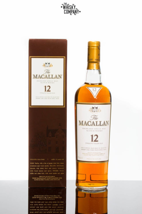 The Macallan 12 Years Old Sherry Oak Highland Single Malt Scotch Whisky (700ml)
