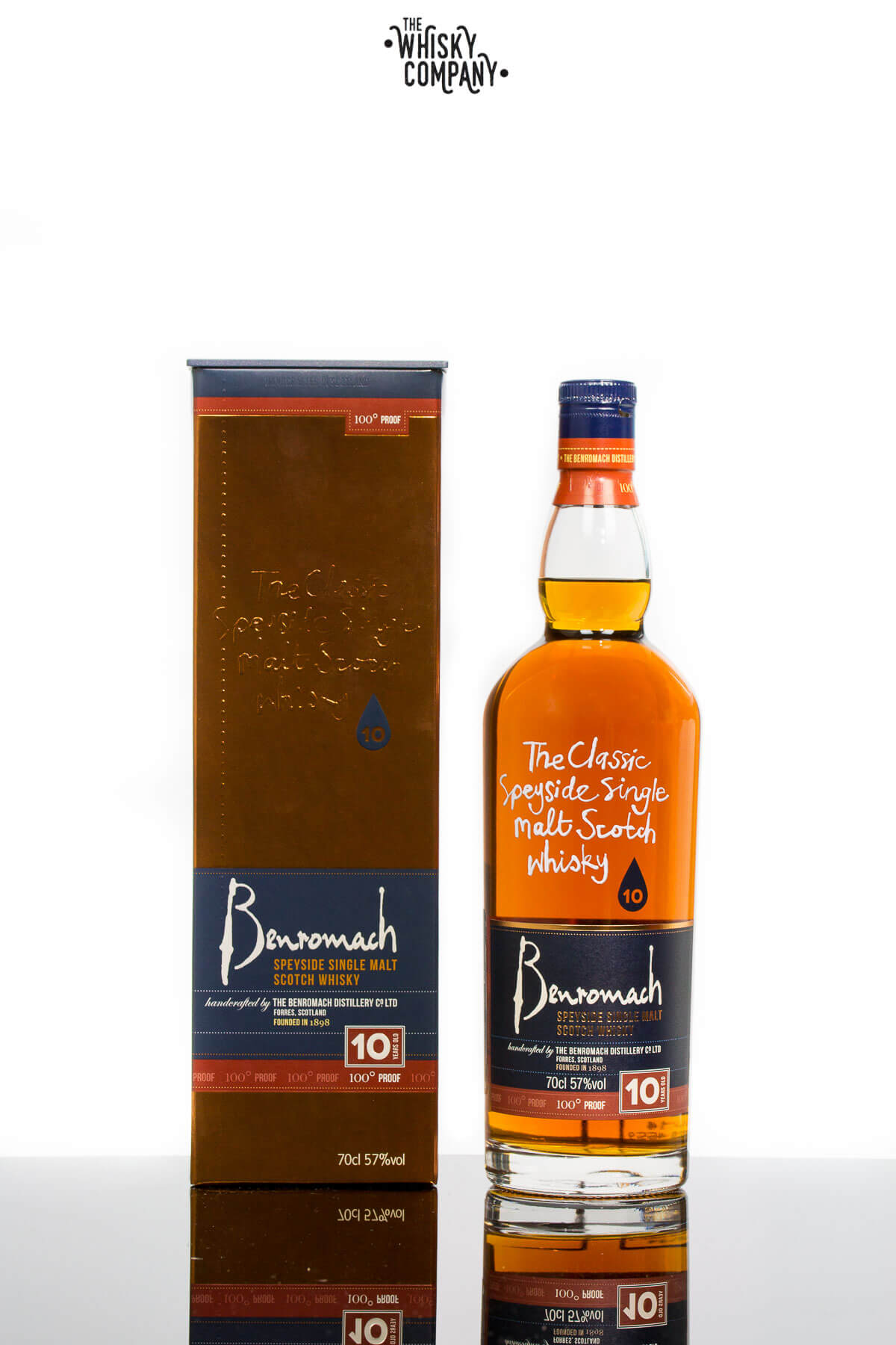 Benromach 10 Years Old 100 Proof Speyside Single Malt Scotch Whisky (700ml)