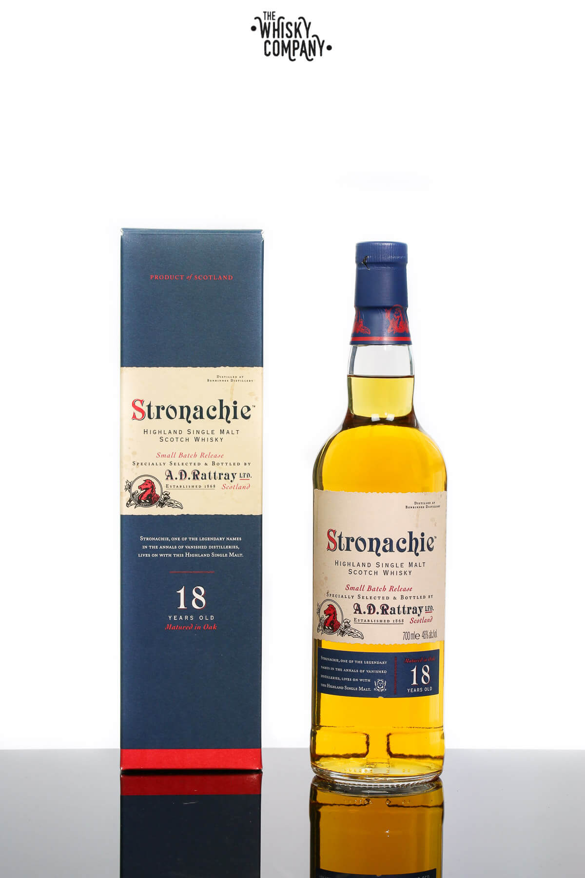 A.D. Rattray Stronachie 18 Years Old Small Batch Release Highland Single Malt Whisky