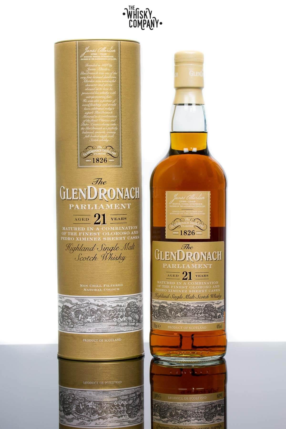 903cab91563 GlenDronach 21 Years Old Parliament Highland Single Malt Scotch Whisky  (700ml)