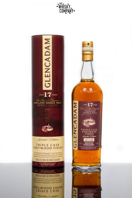 Glencadam Aged 17 Years Triple Cask Portwood Highland Single Malt Scotch Whisky (700ml)