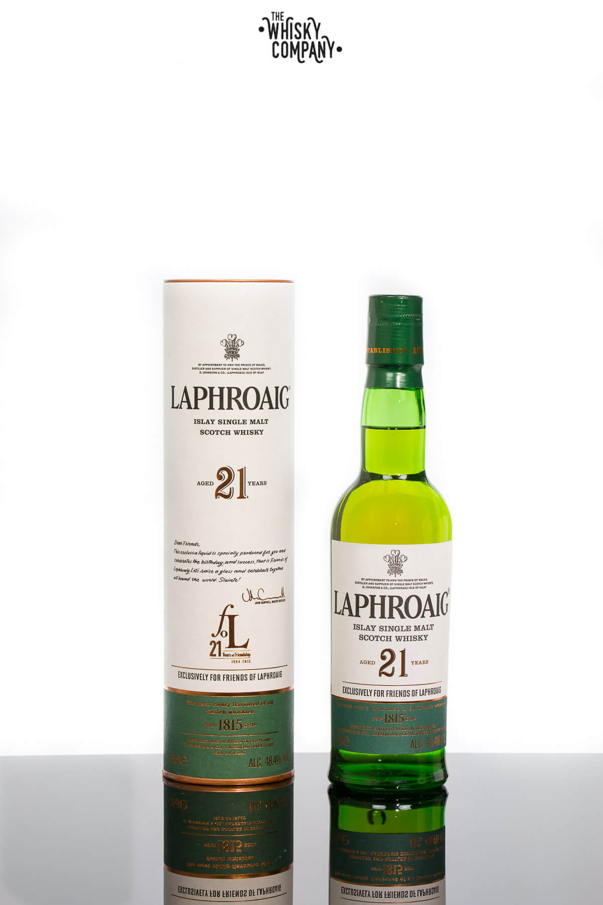 Laphroaig Aged 21 Years Friends of Laphroaig Release Islay Single Malt Scotch Whisky