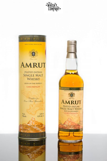 Amrut Peated Cask Strength Indian Single Malt Whisky (700ml)