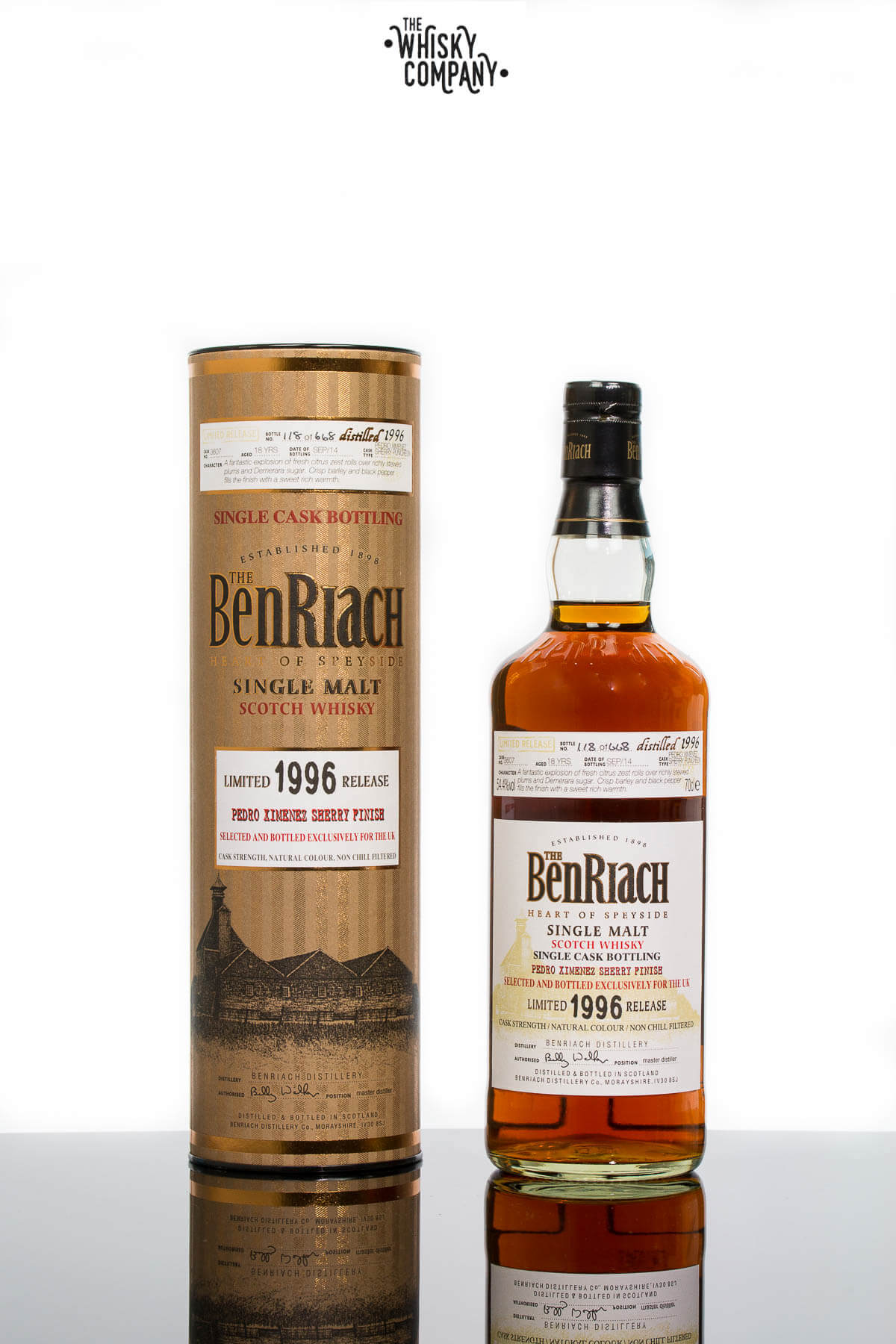 BenRiach Limited Release 1996 Single Cask PX Sherry Finish Speyside Single Malt Whisky (700ml)
