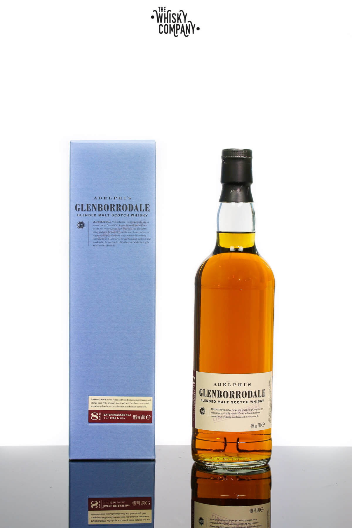 Glenborrodale 8 Years Old Batch 1 Blended Malt Scotch Whisky (Adelphi) (700ml)