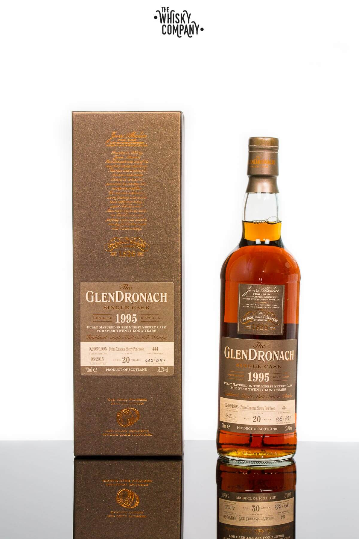 GlenDronach 1995 Single Cask Aged 20 Years #444 Highland Single Malt Scotch Whisky