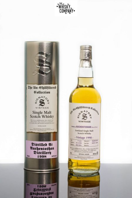 Auchentoshan 1998 Aged 17 Years Single Malt Scotch Whisky - Signatory Vintage (700ml)