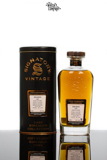 Ben Nevis 1991 Aged 24 Years (cask 3833) Single Malt Scotch Whisky - Signatory Vintage (700ml)