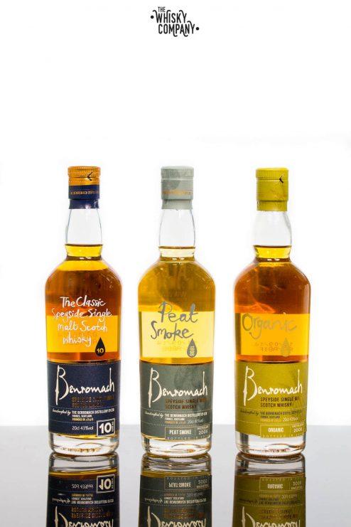 Benromach Trio Of 200ml Bottles Speyside Single Malt Gift Pack