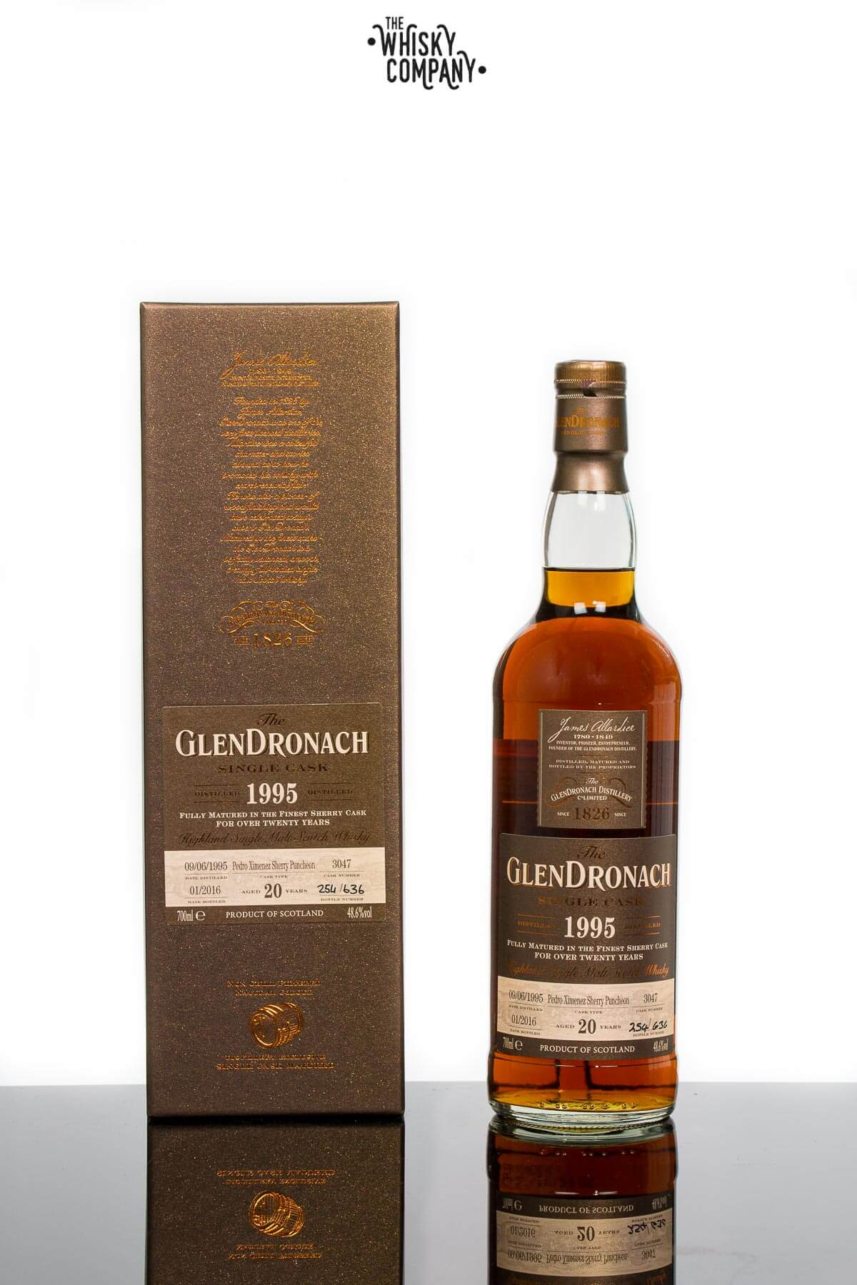 GlenDronach 1995 Single Cask Aged 20 Years Single Malt Scotch Whisky