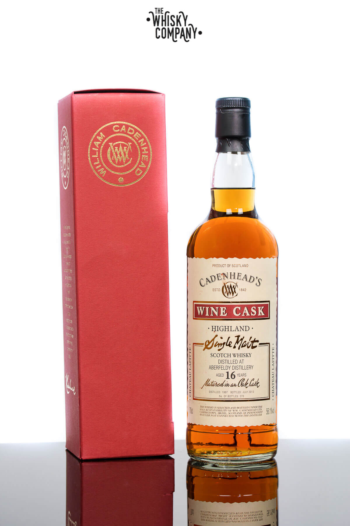 Aberfeldy Chateau Lafitte Cask Aged 16 Years Single Malt Scotch Whisky - Cadenhead's (700ml)