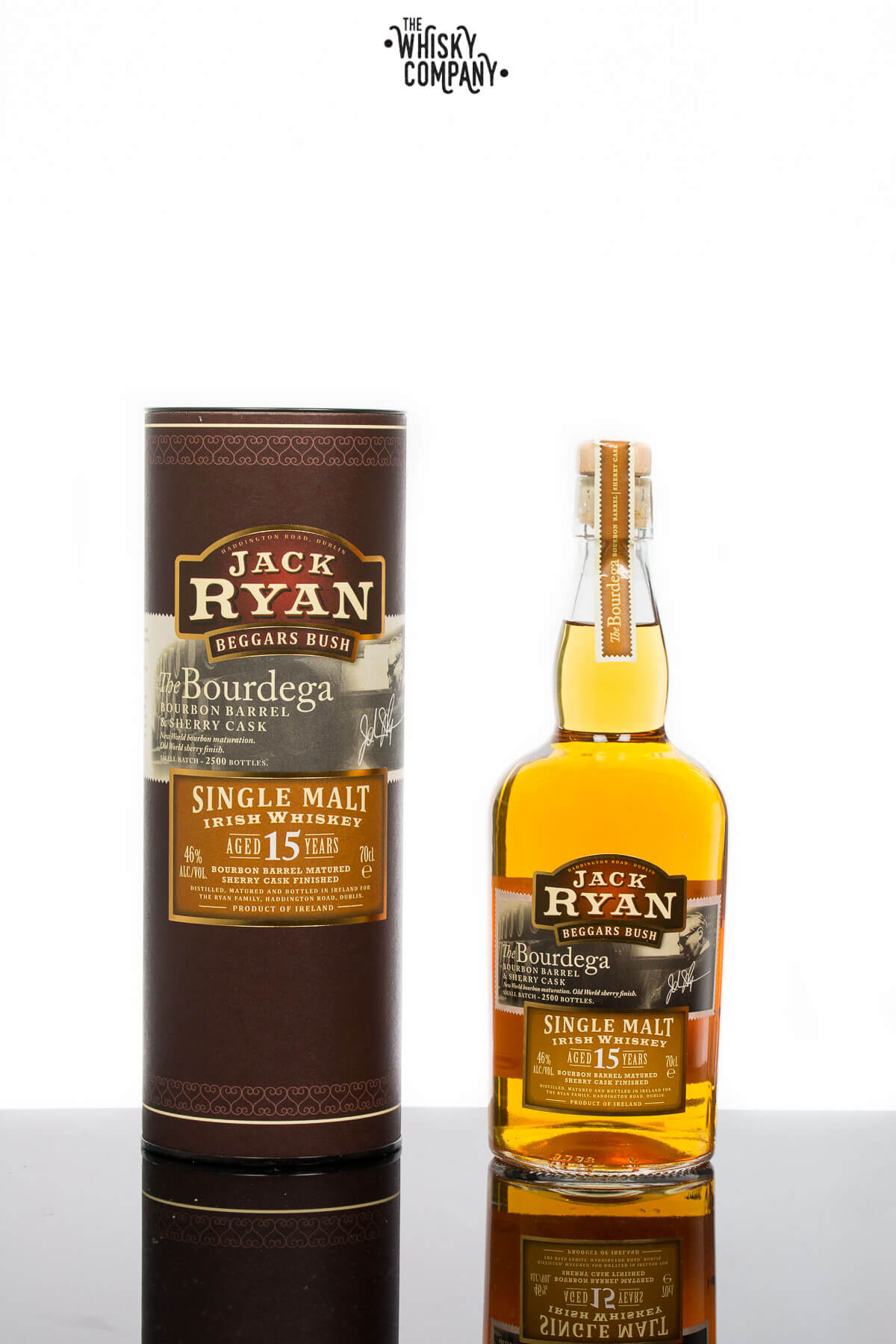 Jack Ryan 'Beggars Bush' Aged 15 Years 'The Bourdega' Irish Single Malt Whiskey (700ml)