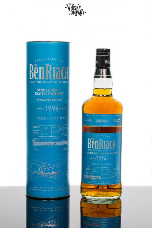Benriach 1994 Aged 22 Years Single Cask 4004 Batch 13 Tokaj Hogshead Speyside Single Malt Scotch Whisky (700ml)
