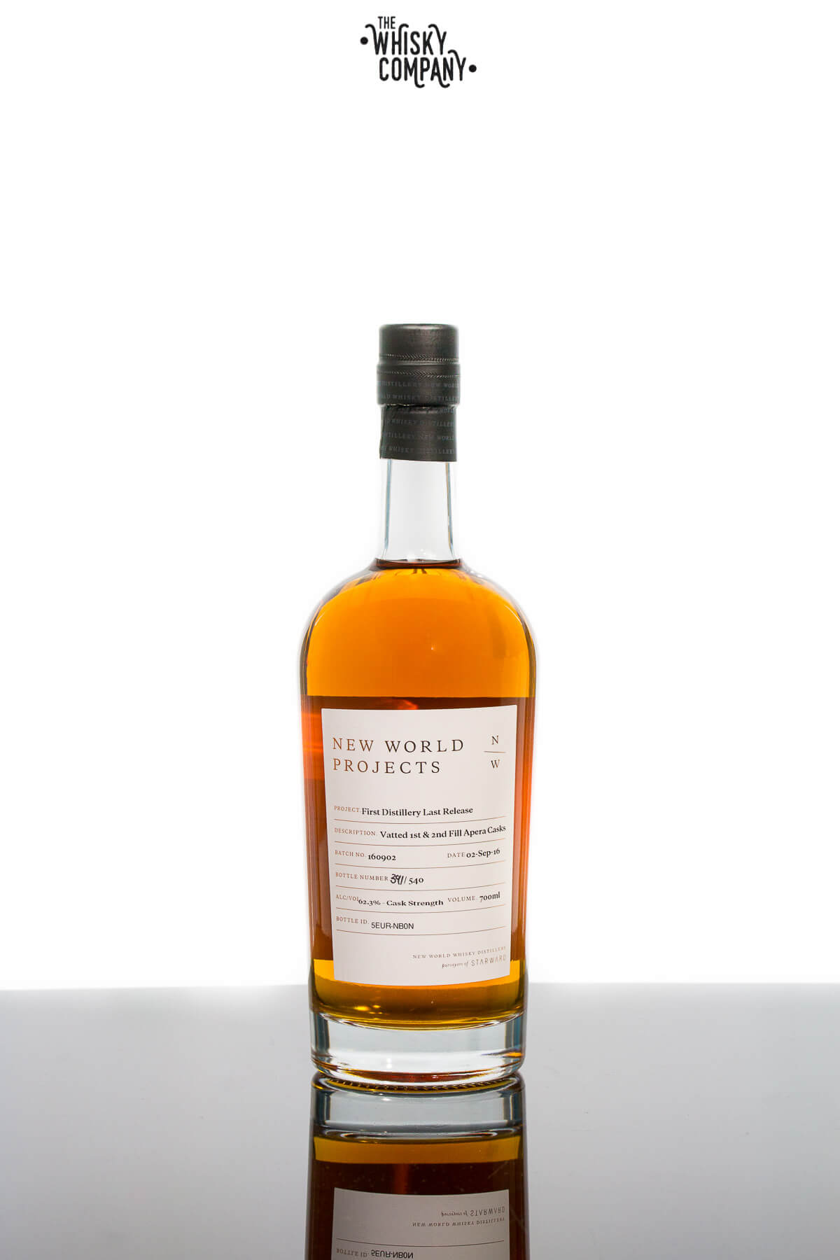 New World Projects First Distillery Last Release Cask Strength Australian Single Malt Whisky