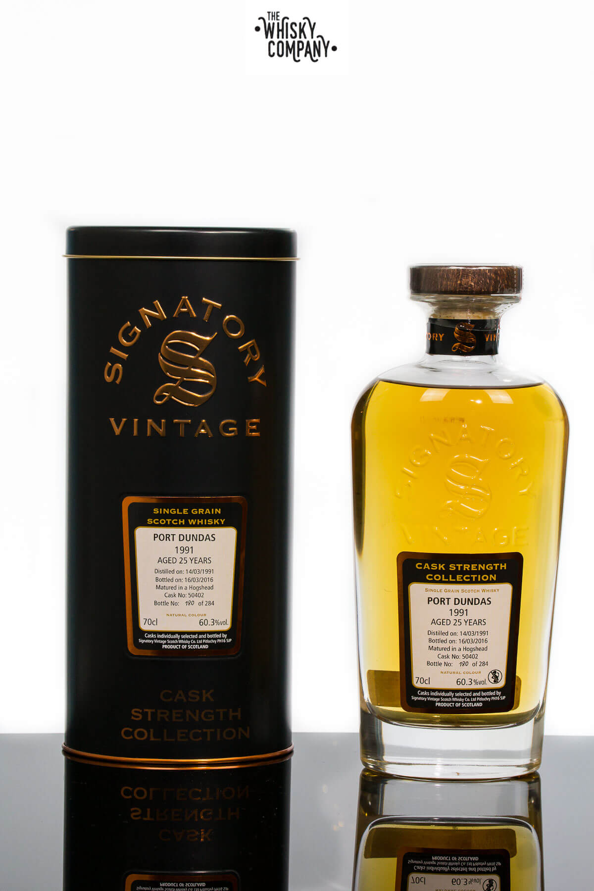 Port Dundas 1991 Aged 25 Years Single Grain - Signatory Vintage