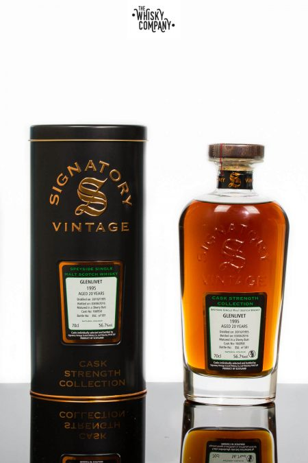 Glenlivet 1995 Aged 20 Years Single Malt Scotch Whisky - Signatory Vintage (700ml)