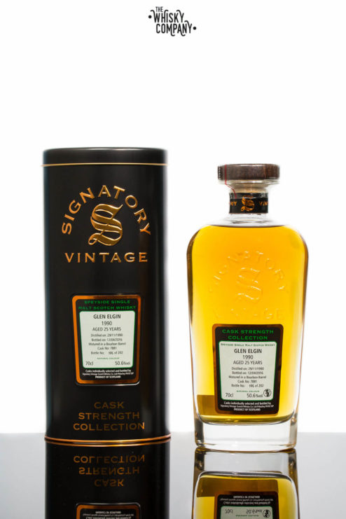 Glen Elgin 1990 Aged 25 Years - Signatory Vintage