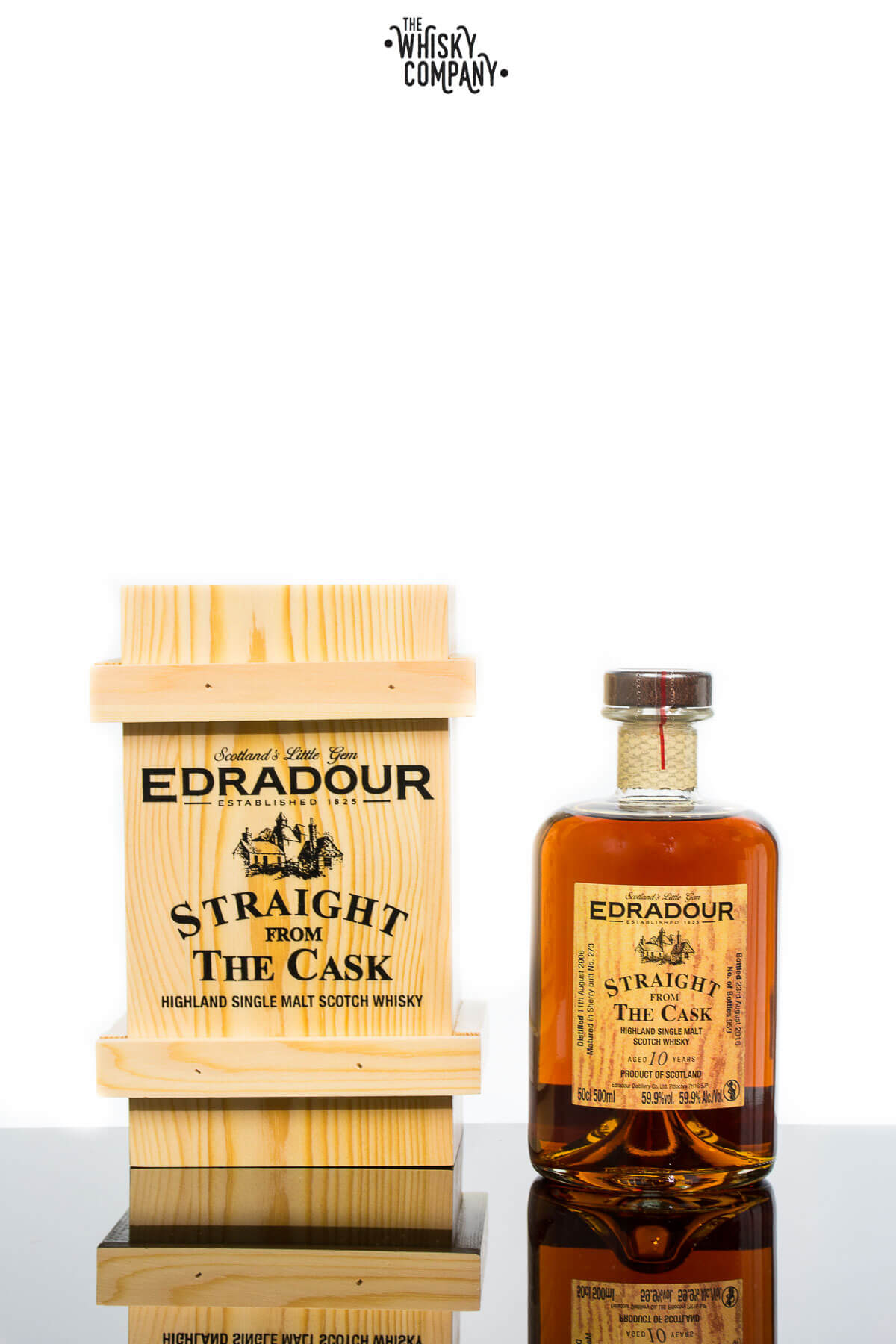Edradour Aged 10 Years Straight From The Cask Highland Single Malt Scotch Whisky (700ml)