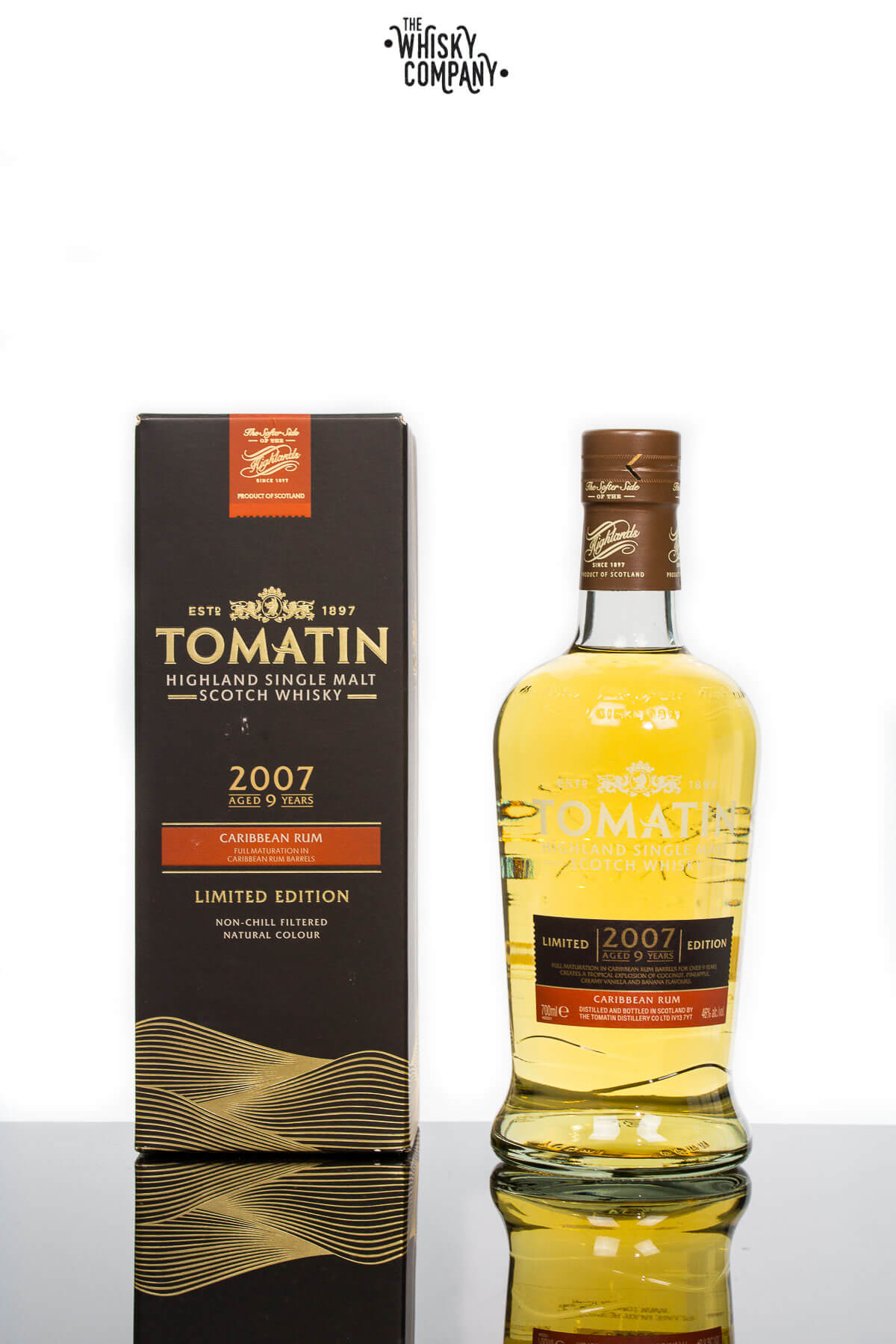 Tomatin 2007 Aged 9 Years Caribbean Rum Matured Highland Single Malt Scotch Whisky