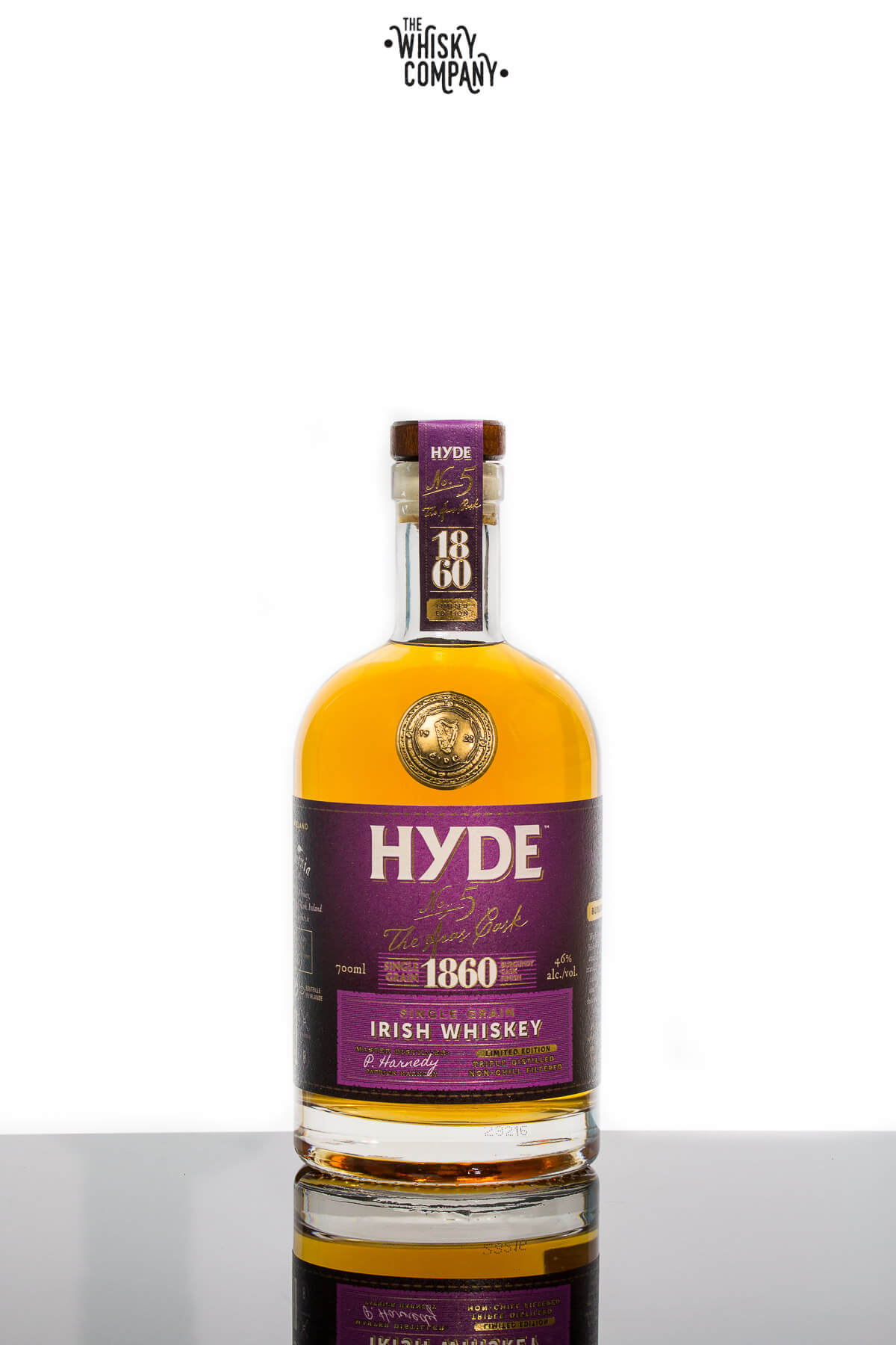 Hyde No. 5 Burgundy Cask Finish Single Grain Irish Whiskey (700ml)