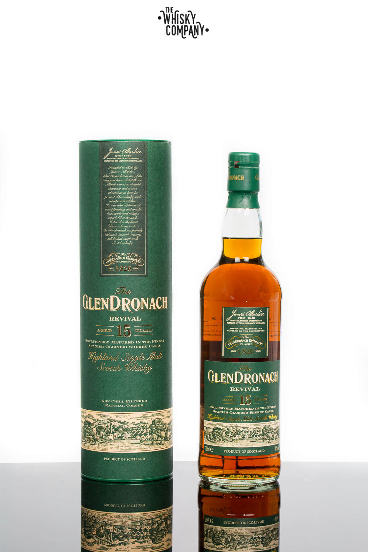 GlenDronach 15 Years Old Revival Highland Single Malt Scotch Whisky (700ml)