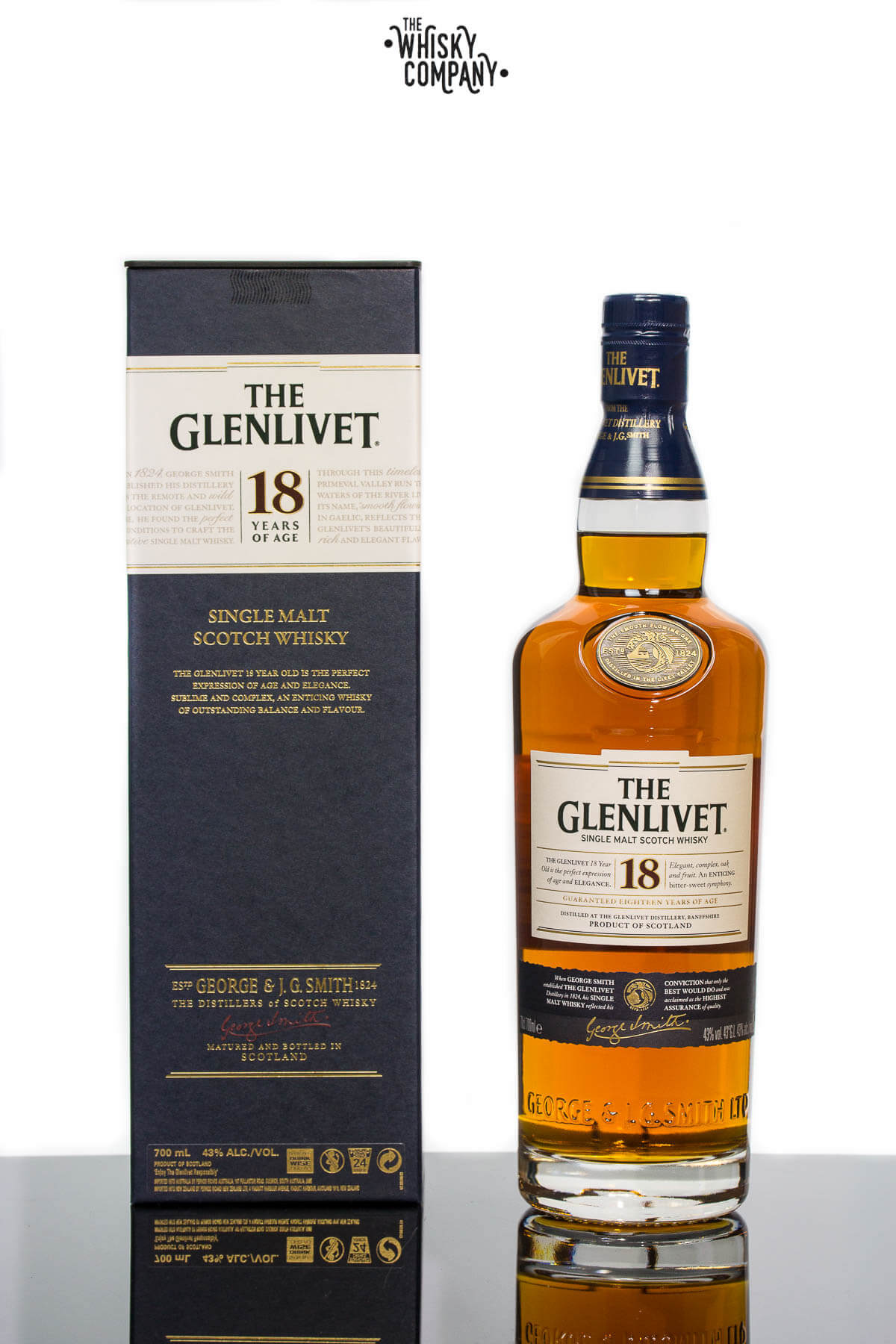 The Glenlivet 18 Year Old Speyside Single Malt Scotch Whisky