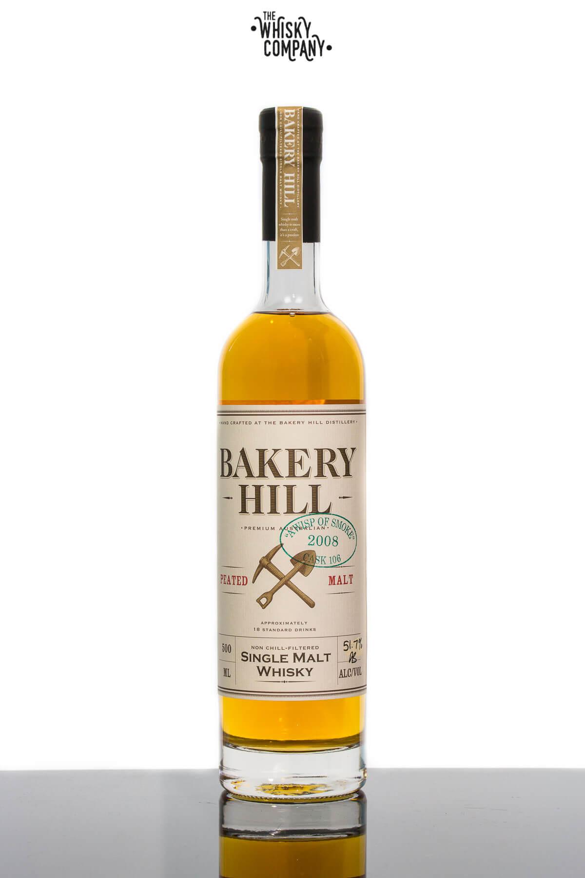 Bakery Hill 'A Wisp Of Smoke' Peated Malt Cask Strength Australian Single Malt Whisky (500ml)