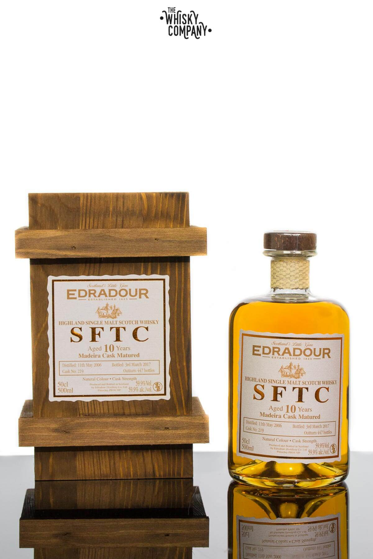 Edradour SFTC Aged 10 Years Madeira Cask Matured Single Malt Scotch Whisky (500ml)