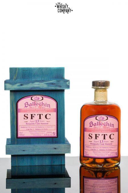 Ballechin 2004 SFTC Aged 13 Years Burgundy Cask Matured Single Malt Scotch Whisky (500ml)