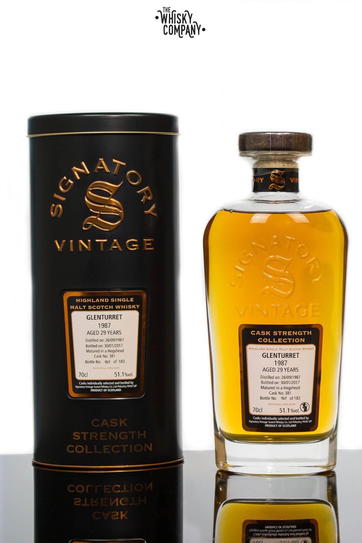 Glenturret 1987 Aged 29 Years Old (cask 381) Single Malt Scotch Whisky - Signatory Vintage (700ml)