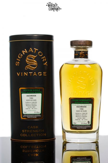 Auchroisk 1990 Aged 26 Years Single Malt Scotch Whisky - Signatory Vintage (700ml)