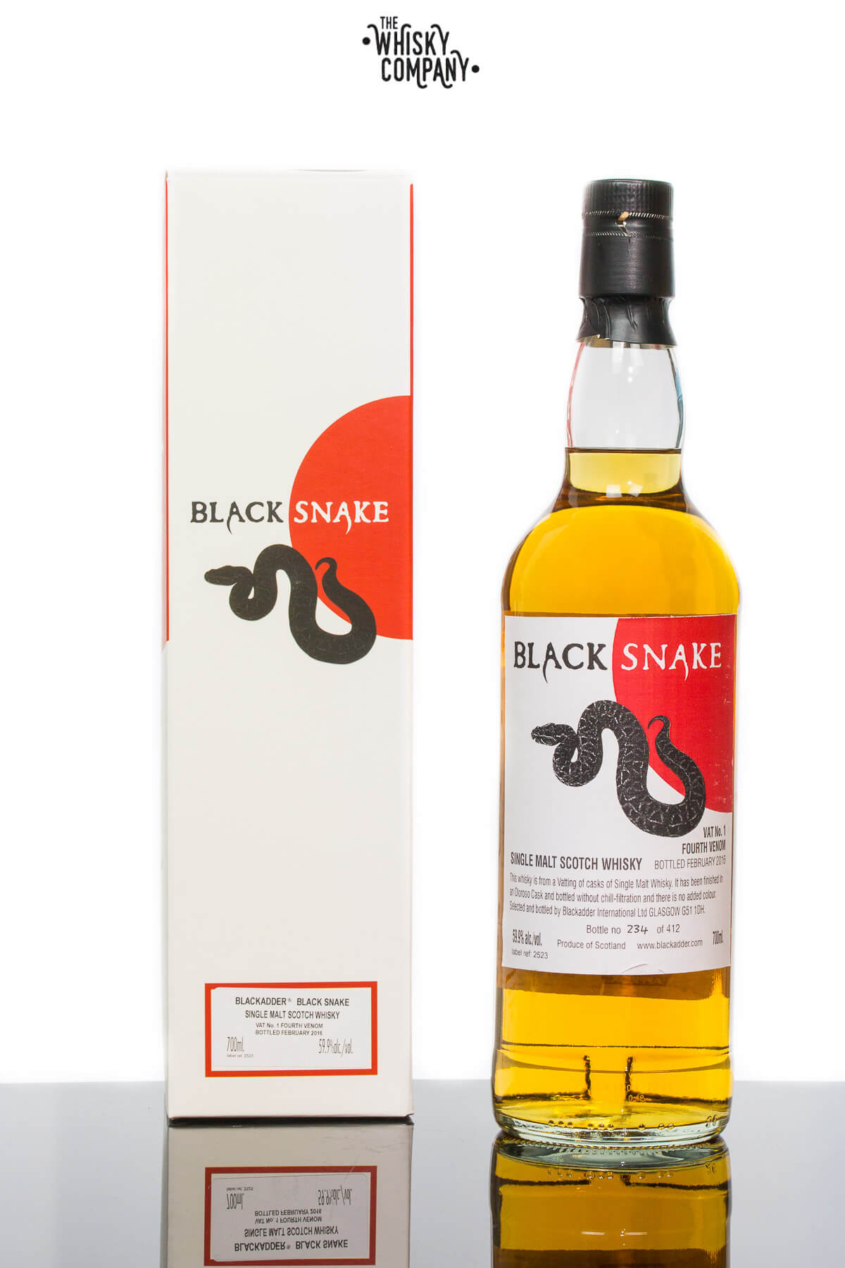 Blackadder Black Snake Vat No. 1 Fourth Venom Single Malt Scotch Whisky