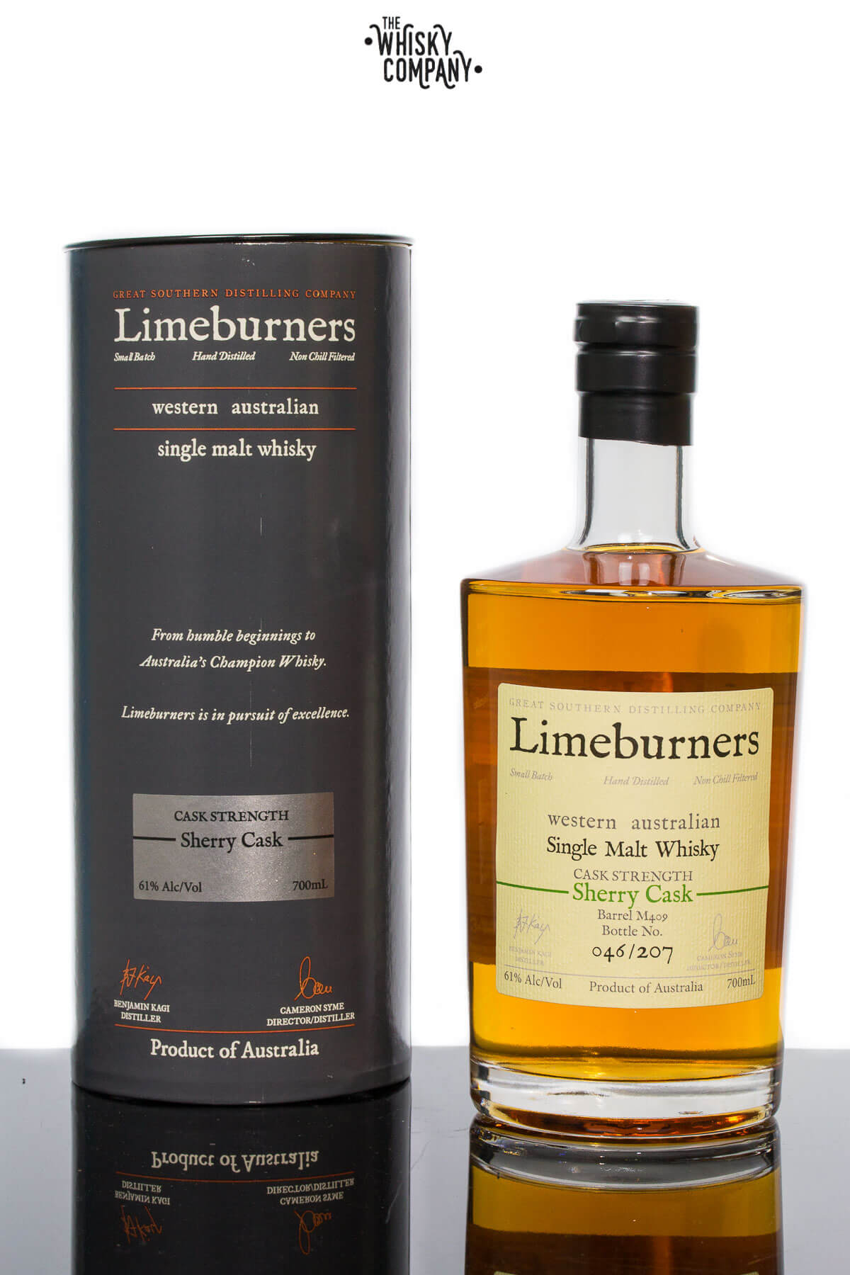 Limeburners Sherry Cask Strength M163 Australian Single Malt Whisky (700ml)
