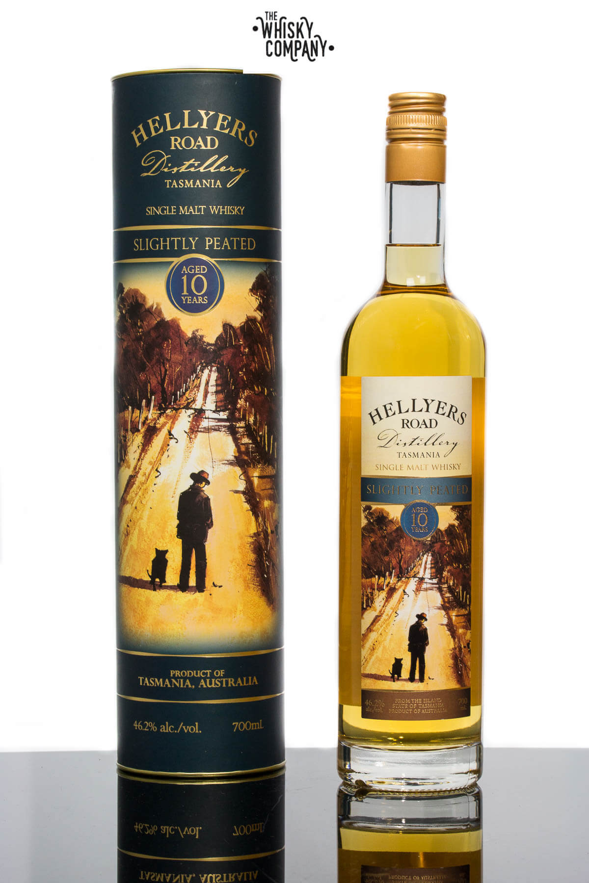 Hellyers Road Slightly Peated Aged 10 Years Australian Single Malt Whisky (700ml)