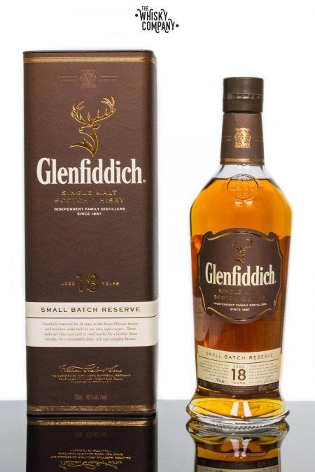 Glenfiddich Aged 18 Years Speyside Single Malt Scotch Whisky (700ml)