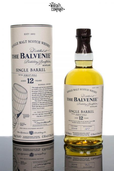 The Balvenie Aged 12 Years Single Barrel Speyside Single Malt Scotch Whisky (700ml)
