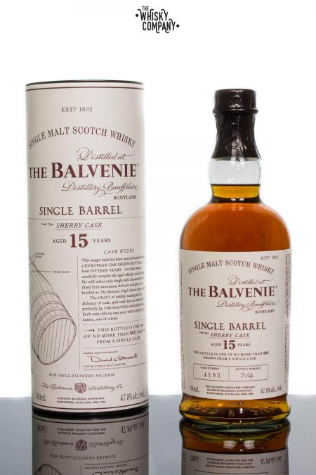 The Balvenie Aged 15 Years Single Barrel Sherry Cask Speyside Single Malt Scotch Whisky (700ml)