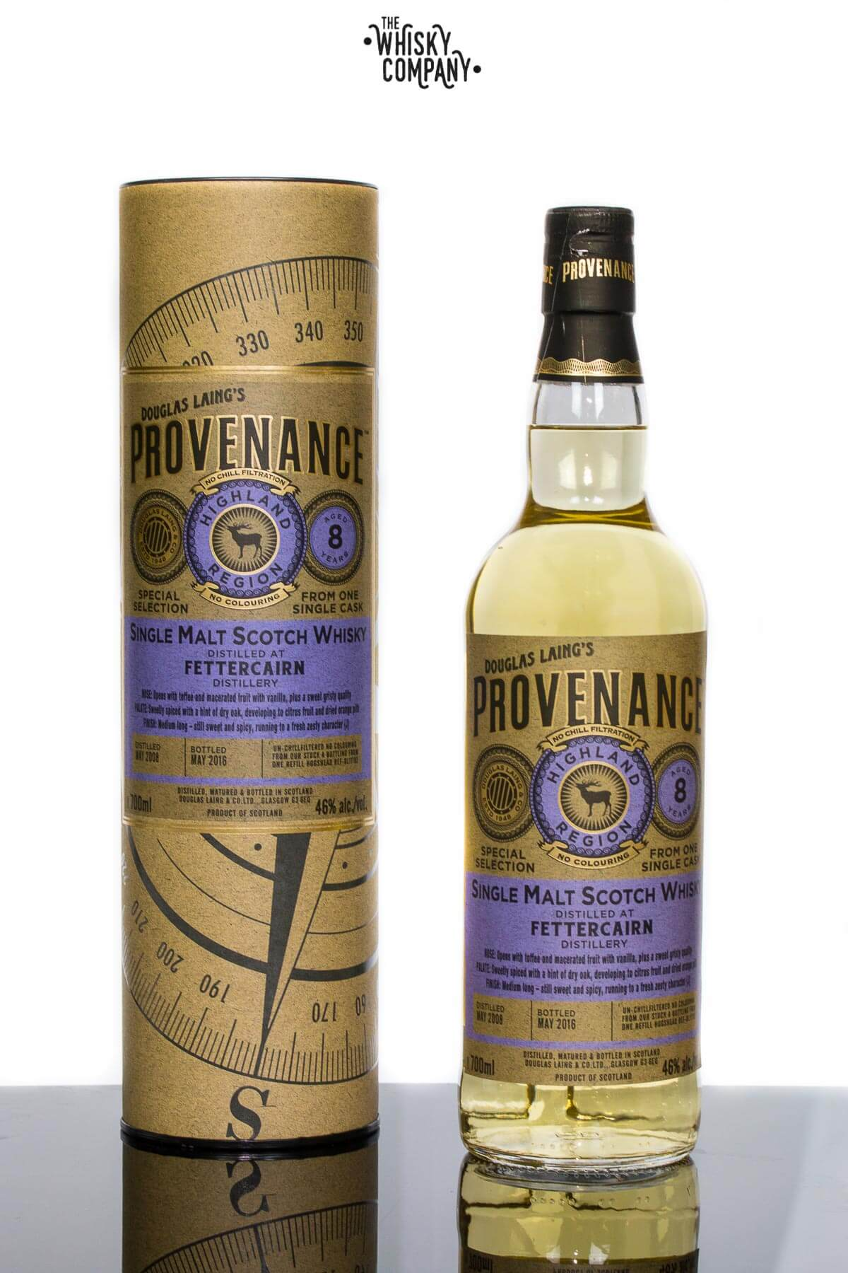 Douglas Laing Provenance Fettercairn Aged 8 Years Single Cask Single Malt Scotch Whisky
