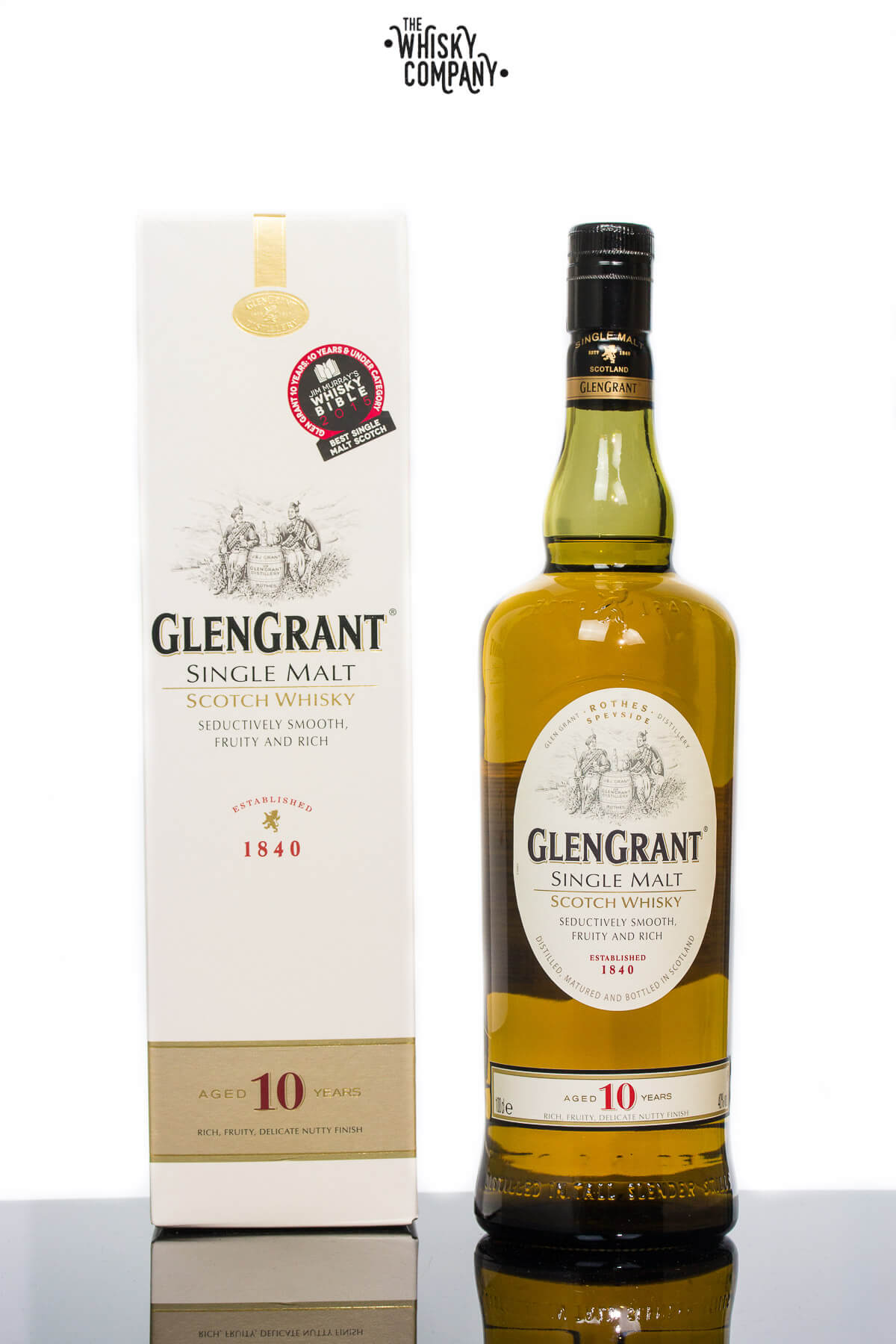 Glen Grant Aged 10 Years Speyside Single Malt Scotch Whisky 1000ml