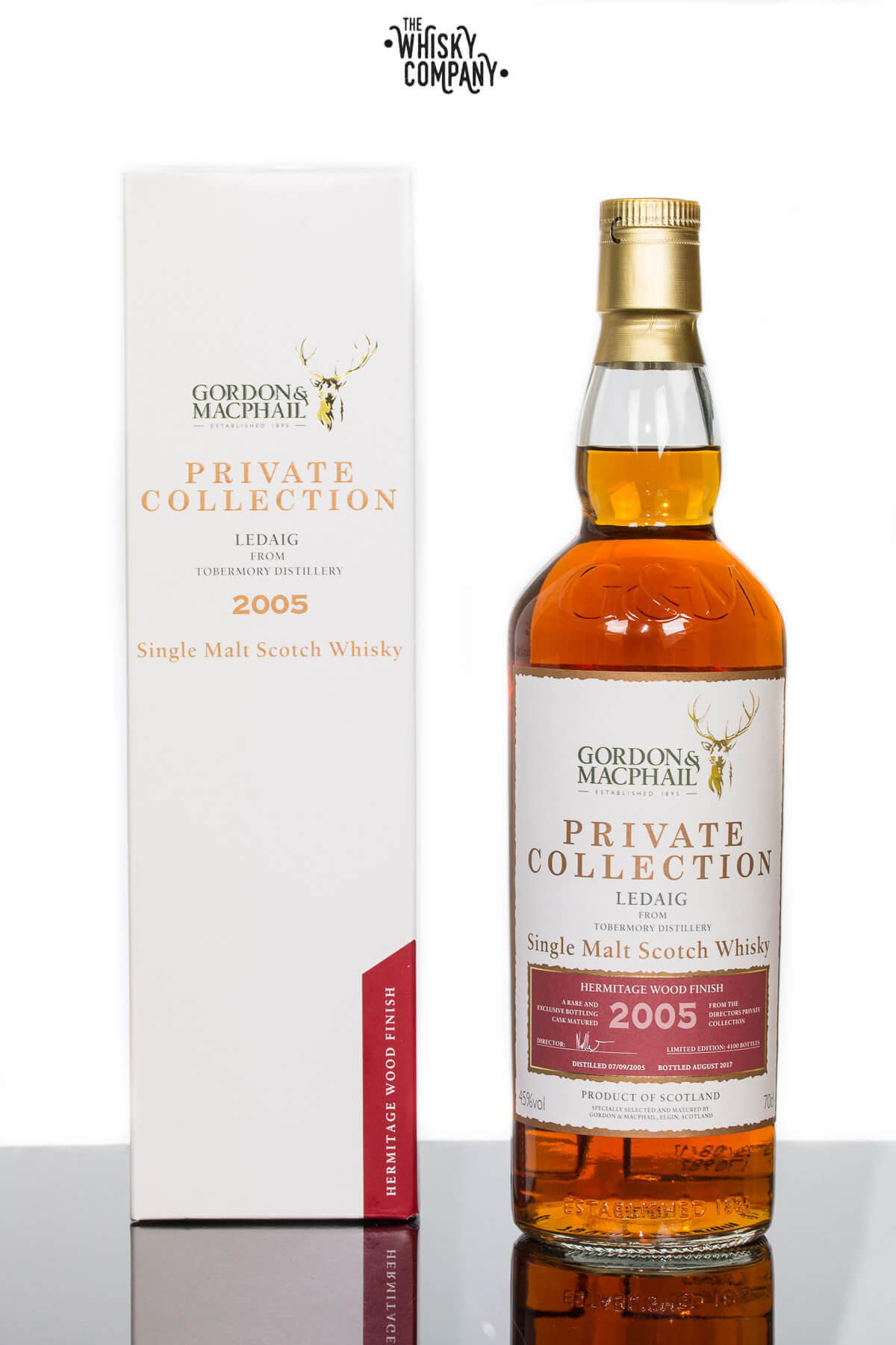 Gordon & MacPhail 2005 Ledaig Hermitage Wood Finish Private Collection Single Malt Scotch Whisky 700ml