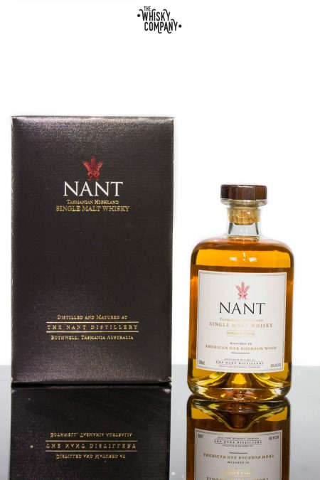 Nant Bourbon Cask Matured Cask Strength Tasmanian Highland Single Malt Whisky (500ml)