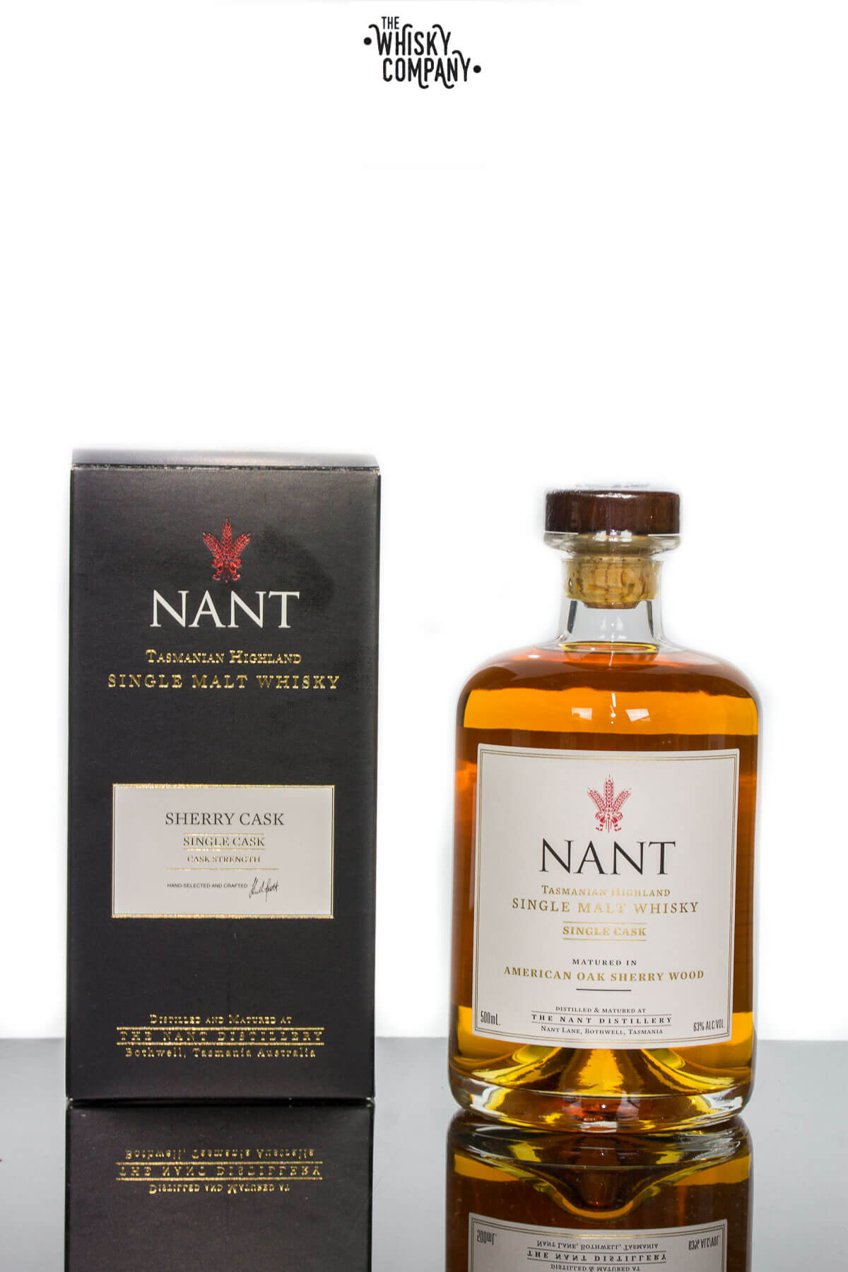 Nant Sherry Wood Cask Strength Tasmanian Highland Single Malt Whisky (500ml)