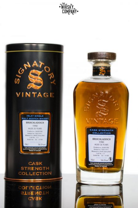 Bruichladdich 1990 Aged 26 Years Single Malt Scotch Whisky - Signatory Vintage (700ml)