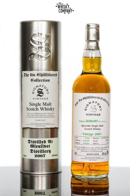Glenlivet 2007 Aged 10 Years Single Malt Scotch Whisky - Signatory Vintage (700ml)