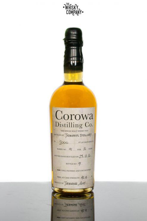 Sullivans Cove (Barrel 91 Bottle 91) Aged 16 Years Bottled by Corowa Distillery Tasmanian Single Malt Whisky (700ml)