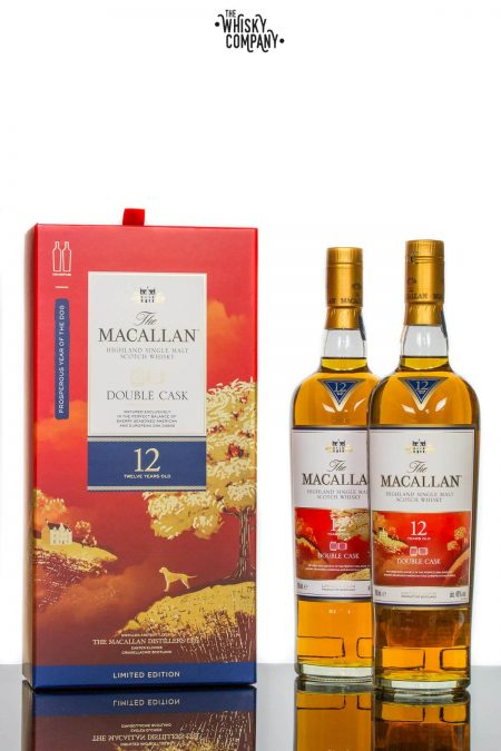 The Macallan Double Cask 12 Years Old Year Of The Dog Single Malt Scotch Whisky (2 x 700ml)