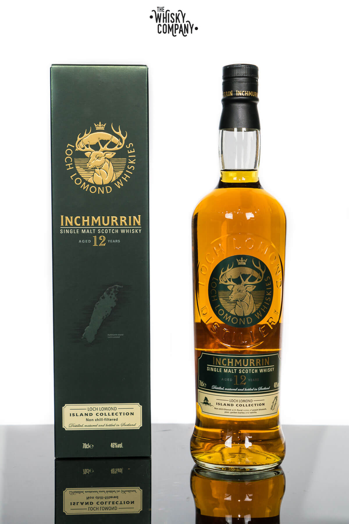 Inchmurrin Aged 12 Years Highland Single Malt Scotch Whisky (700ml)