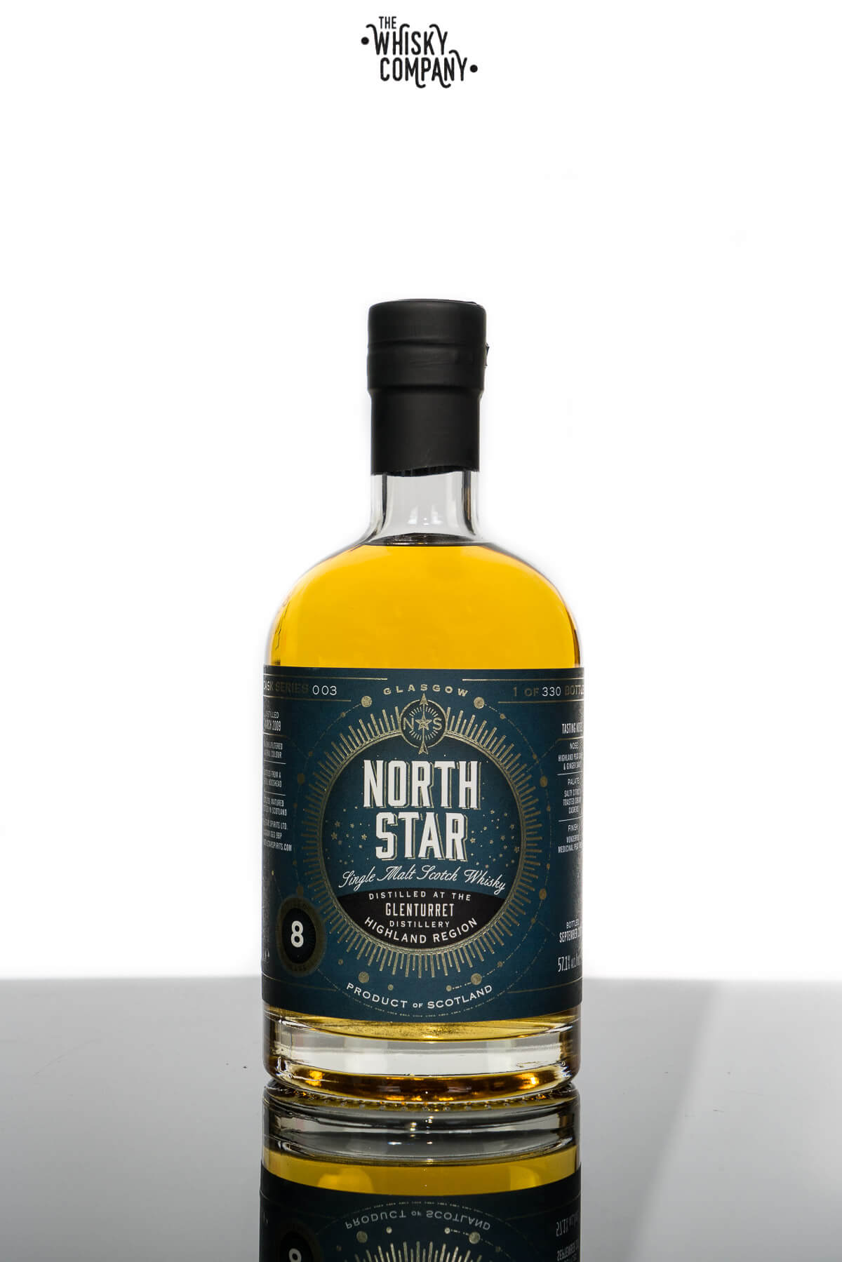 North Star Glenturret Aged 8 Years Peated Highland Single Malt Scotch Whisky (700ml)